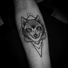 geometric-wolf-tattoo.jpg (635×635)