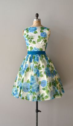 Delphinidin dress / vintage floral 50s dress / 1950s by DearGolden