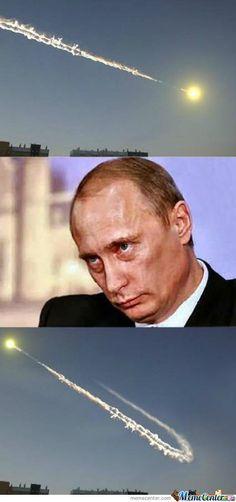 Путин и метеорит