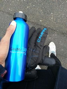"""""""Good old GiveMeTap bottle saving my fingers this morning!!! Filled with almost hot water on the way out... so very useful handwarmer while waiting for train on this very cold morning!!"""""""