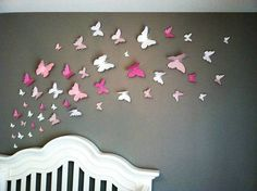 3D vlinders - Walldesign56 - Muurstickers