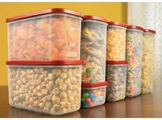 Love these rubbermaid modular mates for organizing the pantry, keeps things fresh and lets me know when I need to replenish.