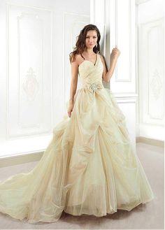 Glamorous Tulle One Shoulder Neckline Natural Waistline A-line Wedding Dress