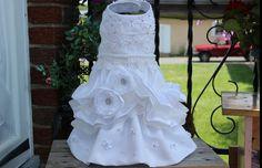 Dog Wedding Dress size small by MaxMilian on Etsy, $150.00