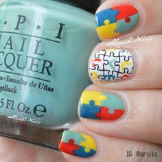 sruiq autism awareness #nail #nails #nailart