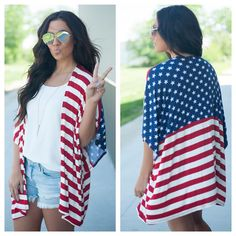 How perfect is this for Memorial Day and the 4th!!!! #onlinenow #apricotlanepeoria #shopalbpeoria #ootd #merica