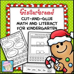 !!!TEN NEW PAGES have just been added to this packet!!!This resource contains 47 pages of cut-and-glue math and literacy activities.  The pages focus on addition, short vowel word families, subtraction, sight words, counting, constructing and writing sentences, making ten, and more!