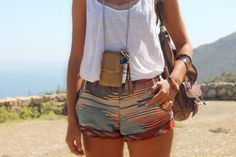 Love everything. - DIY cellphone holder and shorts.