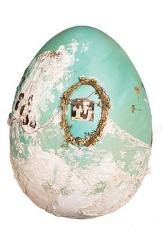 Lady Amanda Harlech's pressed flower 'fashionable egg' from the Faberge Big Egg Hunt which launches tomorrow. Simply beautiful... via @British Vogue
