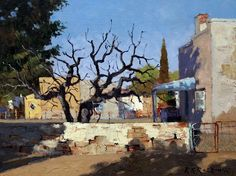 Roelof Rossouw City Scapes, South African Artists, Donkeys, Faeries, Landscape Paintings, Art Work, Landscaping, Oil, Heart