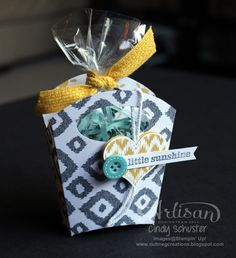 Fry box basket with the Sweet Dreams DSP and Little Sunshine Stamp Set ~ Cindy Schuster