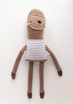 Sloth Friend Finkelstein's Center Handmade by finkelsteins