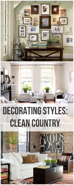 Clean Country Decorating • Tips & Ideas! You know as oppose to the dirty kind!!