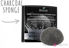 Charcoal Scrub Sponge | Best beauty products and product reviews at You're So Pretty | #youresopretty | youresopretty.com