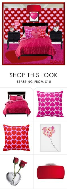 """Heart Patterned Room"" by mfoster07 ❤ liked on Polyvore featuring interior, interiors, interior design, home, home decor, interior decorating, WALL and Simon Pearce"