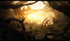 An alien planet called Makroth. The landscape is made of giant roots running across mountains, harvesting liquids running here and there, and of bones of giant dead animals. There was a giant...