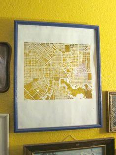 Cutting a Path - No Laser Paper Cut Map