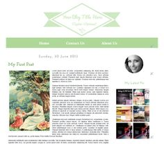 Premade Blogger Template  Light Green  Instant by Symufathemes, $25.00