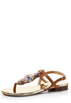 Cato Fashions Jeweled T-Strap Sandals #CatoFashions