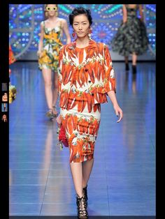 Dolce & Gabbana: Spring 2012 RTW (LOVE the chilies)