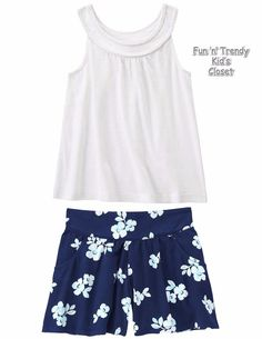 NWT Crazy 8 Girls Size Medium 7-8 Rope Tank Top & Floral Soft Shorts 2-PC OUTFIT #Crazy8 #Everyday