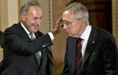"""If THIS doesn't get you to vote.................. ---------------------------------------------------- Chuck Schumer: If Dems Retain The Senate We Will """"Overwhelmingly"""" Vote For Harry Reid As Majority Leader…"""