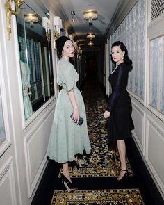 Dita Von Teese Reunited with my glamorous friend ulyana_sergeenko_moscow