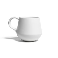 Individually handmade porcelain mug with white glazed finish. Microwave and dishwasher safe. Made in Japan by a company with over 400 years of experience in stoneware and earthenware. Holds 10 fl ounces (just over one cup). (more info)