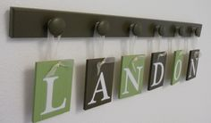 Personalized Nursery or bedroom Decorations Wooden Letters Set Includes 6 by NelsonsGifts, $29.00