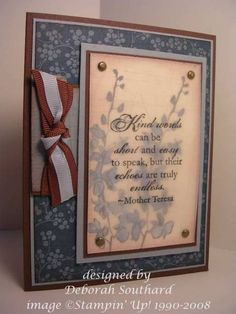 debils LSC201  Stampin Up - Echoes of Kindness
