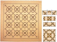Burgoyne Surrounded quilt; Just like American Patchwork Quilt, 'Tone It Down' quilt