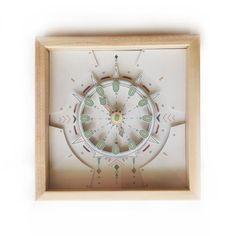 Paper Wood Desk Clock Papercut - Paper Wood Clock - #WoodDeskClock - #TableClock - Gift for Dad - Funiture - Wall Paper Clock