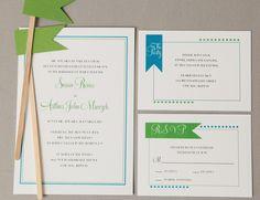 Bright summer wedding invitations   Courtney Callahan Paper