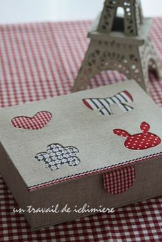Caixa de pano: handmade ichimière de tempo