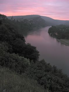10 years ago: Aiguèze above the Ardèche river at dawn, France: http://greenrivercanoes.com/8-day-ardeche/4587498385