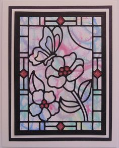 Hi Bloggers. I have a few very, very simple cards with Sue Wilson's Stained Glass Window Dies for you today. For this one, I popped th...