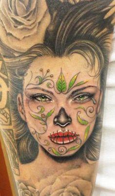 Realism Muerte Tattoo by Massimiliano Fenix | Tattoo No. 10655