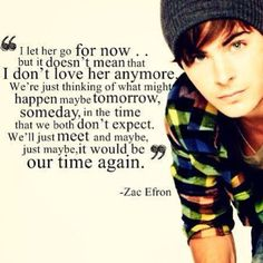 Zac was quoted saying this a few weeks ago about Vanessa <3