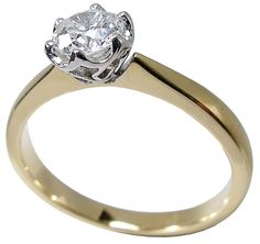 diamond solitaire gold ring by petersens