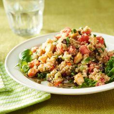 Black Bean-Quinoa Salad with Basil-Lemon Dressing Recipe  | MyRecipes