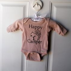 Long Sleeved Happy Camper squirrel Onesie. $19.00, via Etsy.