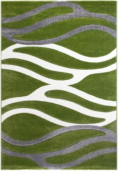 Florida 8002 Green Teppich Carpet Modern Grau Beige Braun Weiss Style Einfach