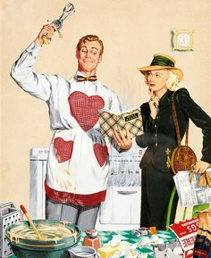 Cooking with love vintage style Vintage Advertisements, Vintage Ads, Vintage Posters, Retro Advertising, Photo Vintage, Vintage Love, Vintage Style, Vintage Pictures, Vintage Images