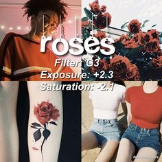 ROSES here's a cool filter to turn red tones to orangy ones Photography Filters, Photography Editing, Photography Themes, Vsco Hacks, Vsco Effects, Fotografia Tutorial, Vsco Themes, Photo Editing Vsco, Vsco Presets