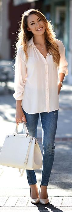 Flowy shirt, casual and fun! Darker paired with lighter color good, pale colors don't work on my pale skin!