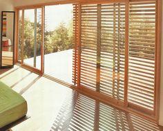 Wooden sliding screen doors