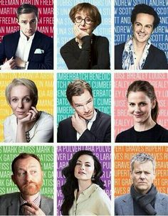 The AMAZING cast of Sherlock! Martin Freeman, Una Stubbs, Andrew Scott Amanda Abbington, Benedict Cumberbatch, Louise Brealey Mark Gatiss, Lara Pulver, Rupert Graves
