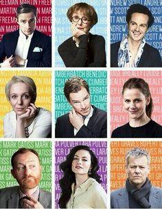 The AMAZING cast of Sherlock! Martin Freeman, Una Stubbs, Andrew Scott Amanda Abbington, Benedict Cumberbatch, Louise Brealey Mark Gatiss, Lara Pulver, Rupert Graves