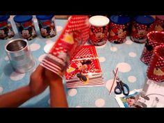 Preparativos aniversário tema Minnie. Lembrancinhas com latas de leite - YouTube