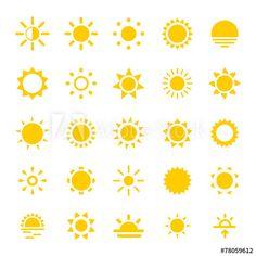 Sun Icons - Acquista questo vettoriale stock ed esplora vettoriali simili in Adobe Stock Sun Tattoos, Cool Tattoos, Yellow Tattoo, Sun Tattoo Small, Inspirational Rocks, Chalk Design, Dorm Art, Sun Logo, Weather Icons